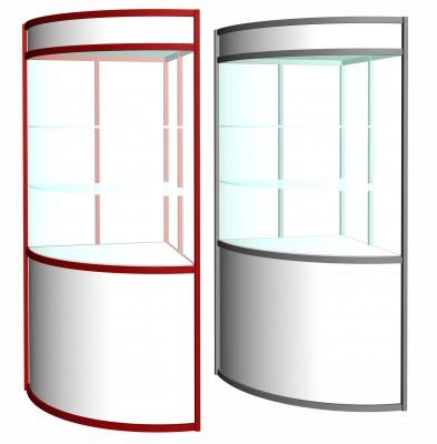 Витрина полукруглая (h=2.2м, R=1м) с подсветкой